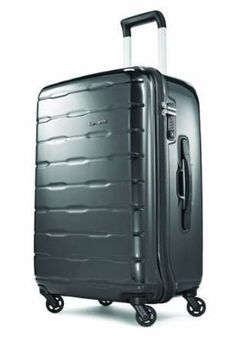 Samsonite Spin Trunk Spinner Charcoal, One Size. TSA combo lock, pull handle and soft hand grip for protection and comfort. Multi-stop pull handle. PVC pocket and mesh pocket. Optimized volume for maximized packing.