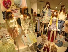 Shibuya 109 - gyaru department store in Tokyo. See photos of the cute, trendy gal brands including Liz Lisa at: http://www.lacarmina.com/blog/2013/04/shibuya-109-tokyo-gyaru-shopping-asia-designer-clothes-shoes/ mitsumaru boutique, gal fashion brands