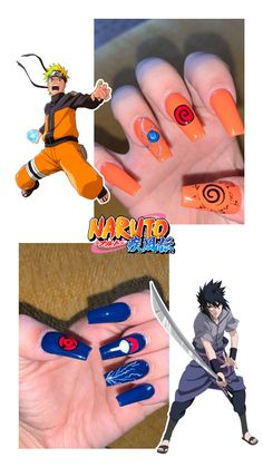 Summer Acrylic Nails, Best Acrylic Nails, Pastel Nails, Acrylic Nail Designs, Pink Nails, Naruto Nails, Anime Nails, Maquillage Cosplay Anime, Uñas Color Neon
