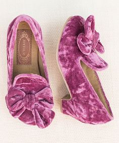 Look at this Plum Cora Velvet Loafer & Hair Clip - Kids on #zulily today!