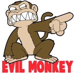 How to Draw The Evil Monkey from Family Guy Drawing Tutorial