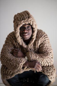 Chunky gebreide trui voor mannen. Mens door MoroshkaByVingil