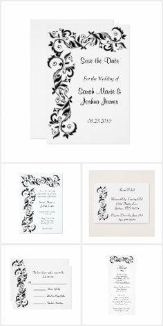 White and Black Florid Ornate Wedding