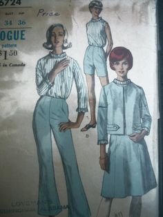 Vtg 60s Vogue Pattern 6724 Jackie O Jacket Bell by TheSewingDen, $8.50