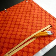 Send them off to school in style! This zippered pencil pouch fits into a 3 ring binder. Tutorial.