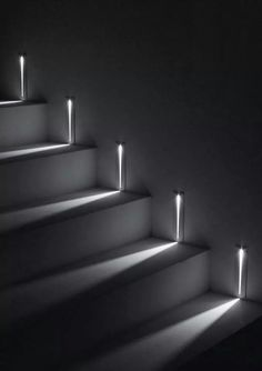 Sharp and minimal design combined with a perfect #light beam.   http://bit.ly/1p3BYQz  STEP by Simes, equipped with #LED source, creates a marked blad of light on the wall.