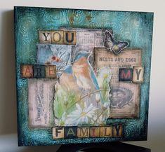 Family time ! #mixedmedia #mixedmediaart   #birds #art #homedecor #painting #acrylique #mydaisybox #artdeco #artdecor #butterfly