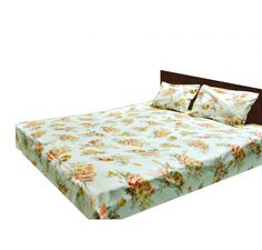With 200tc 100% cotton double bed sheet bring smoothness and comfort of satin to your room with eye soothing floral print.It will just keep the stress out and give you a good night sleep throughout night.