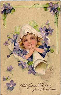 All Good Wishes for Christmas (vintage postcard, c.1906) by dakota_boo, via Flickr
