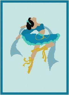 BOGO FREE jasmine princess Cross Stitch by XStitchMania on Etsy