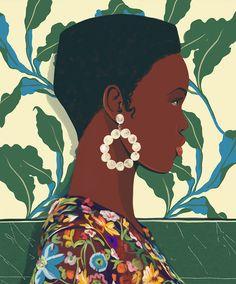 Editorial Illustration by Spiros Halaris – Trendland Online Magazine Curating the Web since 2006 Art And Illustration, Portrait Illustration, Illustration Editorial, Magazine Illustration, Black Girl Art, Black Women Art, Art Women, Afrique Art, Posca Art