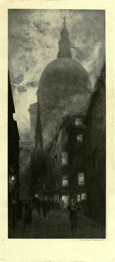 William Hyde  ST. PAUL'S FROM WATLING STREET.