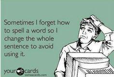 We all do...