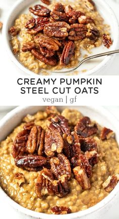 How to make PUMPKIN Steel Cut Oats with a super creamy texture! This is the best… How to make PUMPKIN Steel Cut Oats with a super creamy texture! This is the best easy, homemade, healthy fall breakfast. Tastes like pumpkin… Continue Reading → Fall Breakfast, Quinoa Breakfast, Plant Based Breakfast, Gourmet Recipes, Vegan Recipes, Fall Vegetarian Recipes, Skinny Recipes, Steak Recipes, Grilling Recipes