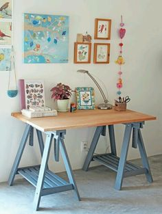 Paint the IKEA legs in a different color to make your table pop
