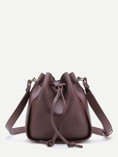 677cd1965b08 Shop Drawstring PU Bucket Bag online. SheIn offers Drawstring PU Bucket Bag  & more to