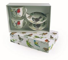 Breakfast cup and saucer gift set