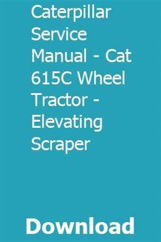Caterpillar D7 D-7 Crawler Tractor SN 17A1-up  Service Shop Manual Cat
