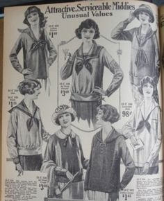 Montgomery Ward, 1922...love the sailor blouses