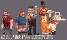 Aquanauta - Village Peeps, Kiel Whitaker on ArtStation at https://www.artstation.com/artwork/aquanauta-village-peeps