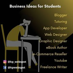 #businessideas #student Web Design, Graphic Design, App Development, Ecommerce, Software, Writer, Author, Student, Tools
