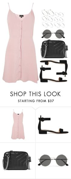 """Sin título #12662"" by vany-alvarado ❤ liked on Polyvore featuring Topshop, Gianvito Rossi, Yves Saint Laurent and ASOS"
