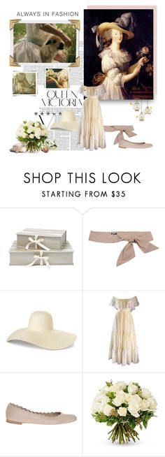 """Always in fashion"" by aroa-hime ❤ liked on Polyvore featuring Nina Campbell, Jil Sander Navy, Therapy, Chloé, Victoria Beckham, vintage, whimsical, VintageInspired, whitedress and whimsy"