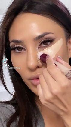 Nose Makeup, Face Makeup Tips, Makeup Eye Looks, Beauty Makeup Tips, Contour Makeup, Eyebrow Makeup, Skin Makeup, Cat Eye Makeup, Makeup Hacks