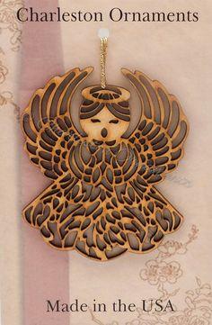 Wooden Angel Ornament Laser Cut Ornament