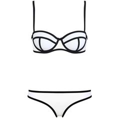 LUCLUC White Bandeau Triangle Push Up Bikini Set ($14) ❤ liked on Polyvore featuring swimwear, bikinis, bathing suits, swimsuits, bikini, swim, push up bikini swimsuit, push up swimsuit, white bikini and push up bikini