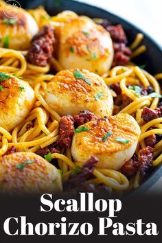 This Seared Scallop Chorizo Pasta is a speedy, simple, and rich seafood dinner that is ideal for a mid-week supper or for serving to friends. Learn how to cook the most perfectly seared scallops and serve this posh pasta on your next date night.