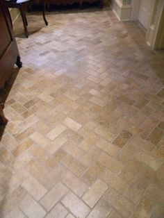 herringbone tile floor - this is definitely going in the guest bath and laundry room!!