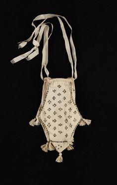 Drawstring bag (image 2) | American | 1800 | barred cotton | Museum of Fine Arts, Boston | Accession #: 48.1222