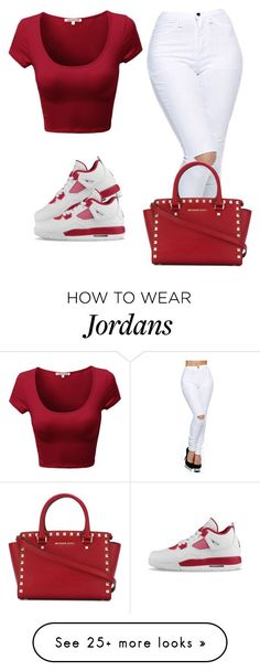 """shoes yhu like?"" by lovermonster on Polyvore featuring NIKE, MICHAEL Michael Kors, women's clothing, women, female, woman, misses and juniors"