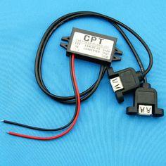 DC Buck Converter 12V to 5V 3A 15W voltage regulator USB Output CAR POWER Supply