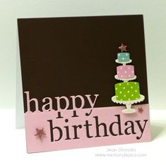 Memory Box dies: NEW - Grand Happy Birthday  98838 NEW - Hearts and Stars  98755 Scalloped Cake Plate 98541 Petite Cake 98547
