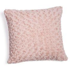 Kissen aus Kunstfell, 45 x 45 cm, rosa