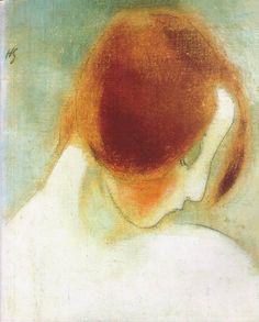 Helene Schjerfbeck - Punainen Pää I, 1915