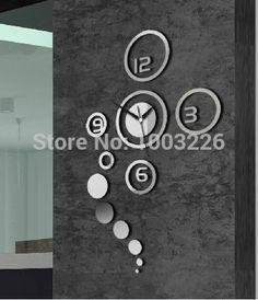 Barato Fundo Sala de Arte mudo relógio de parede relógio personalidade DIY Superfície do Espelho relógio espelho 3d adesivos de parede para quartos de crianças para casa promoção, Compro Qualidade Adesivos de parede diretamente de fornecedores da China: o mais recente decoração da casa de vidro varaespelho se tornaMaterial: PSMaterial: PS (plástico)tamanho: o tamanho da e