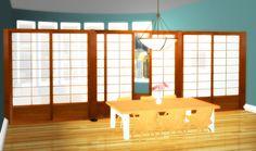 Sliding Shoji Room Divider