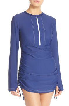 Mott 50 'Sonja' Long Sleeve Half Zip Convertible Swimdress (UPF 50) available at #Nordstrom