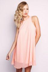 Swings Dress - Peach $59