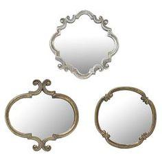 3-Piece Victoria Wall Mirror Set $49.95