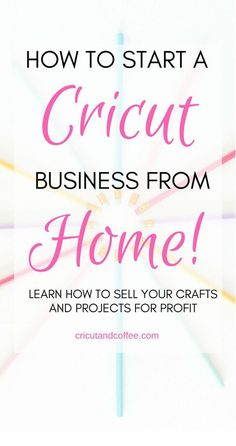 this FREE e-mail course, you will learn the everything you need to know to start a Cricut . In this FREE e-mail course, you will learn the everything you need to know to start a Cricut business from home selling your crafts and projects. Diy Projects To Sell, Crafts To Make And Sell, How To Make Money, Sewing Projects, Sewing Tips, Vinyl Craft Projects, Art Projects, Sell Diy, Cricut Craft Room