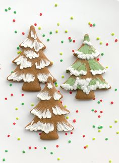 Gingerbread Icing, Gingerbread Christmas Decor, Christmas Tree Cookies, Etsy Christmas, Fancy Cookies, Royal Icing Cookies, Biscuits, Easy Holiday Recipes, Cookie Gifts