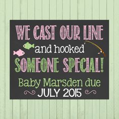 Neutral Pregnancy Announcement Chalkboard by PersonalizedChalk