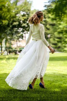 Olivia Palermo, una novia con stilettos azules