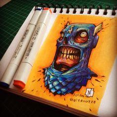Cap-Skull by Andrey Pridybaylo, via Behance