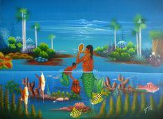 """La Sirene and Her Mirror"" by Myrthil Benson"