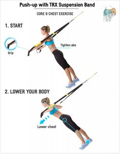 trx workouts | TRX Push-up -Core & Chest Exercise